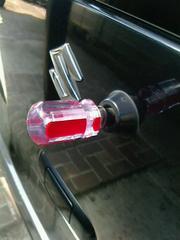 ドライバーリアワイパー6mm赤自作マスコット キャップ