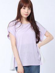 新品!mystic☆バックストライプTシャツ ラベンダーF