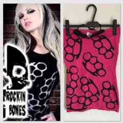 【美品】ROCKiN'BONES Brass Knuckles Top ハロウィンにも!