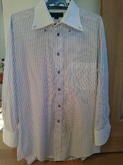 TAKA-Qタカキュー/メンズ長袖カッターシャツ/パープルのストライプ柄トップス♪Lサイズ