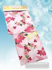 【和の志】女性用浴衣◇Fサイズ◇薄ピンク系・牡丹◇HOKF-20