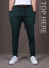 超人気のジョガーパンツ グリーン XXL スエットパンツ メンズ