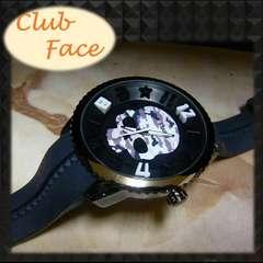 """人気の白カモフラ★ビッグスカル""""clubface""""メンズ腕時計"""