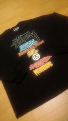 STUSSY MARVEL WORLDーTOUR 黒ブラックロンT サイズ3XL XXXL