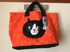 大きな黒猫chanトートバッグ★ハンドメイド