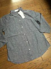 新品CIAO PANIC  シャンブレー7分丈シャツ  チャオパニック