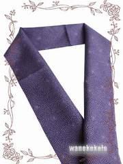 【和の志】カジュアル半襟◇紫系・菊花柄◇CAH-136
