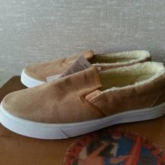 新品 インナーボア スリッポン 靴 L ベージュ