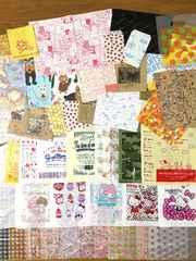 紙&レジ袋など種類いろいろ計300枚セット(いろいろ約90柄)A�A