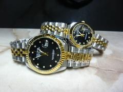 新品★腕時計 ペアセット コンビ・ブラック/ロレックス好きに