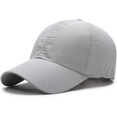 キャップ 帽子,夏 秋 メッシュ ライトグレー