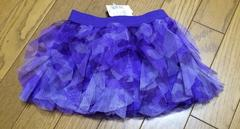 インポートカモフラ柄 紫 スカート 12-18サイズ チュチュ 迷彩