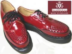 ジョージコックス英国イギリス製ラバーソール3588レッド赤uk6