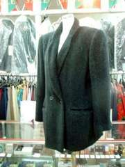 【BONA CHIC】アルパカ入り黒の暖かジャケット