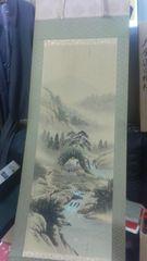 見事な絹本の掛軸。大金運白蛇神。桐箱入り。未使用。江山作。
