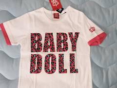 ベビードール新品☆ヒョウ柄ロゴ半袖Tシャツ130☆BABYDOLL