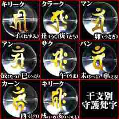 10mm/タイガーアイ梵字水晶数珠ブレスレット/サク午年