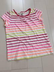 H&M*ネオンカラーボーダーTシャツ*110/used