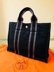 1円 ◆正規品◆ 美品 ◆ エルメス 黒 トート バッグ