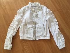 未使用 リナシメント フリル ジャケット ブルゾン XS ホワイト