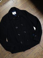 美品TAKEO KIKUCHI メルトンPコート ブラック タケオキクチ