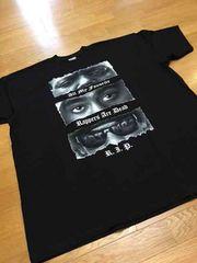 LA直輸入 2pac&BYGGYデザインプリントサイズXL 黒 Tシャツ