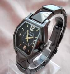 スタッズ風メタルウォッチBK-腕時計