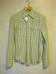 □ボナジョルナータ ウエスタン チェックシャツ/黄緑/メンズ☆新品☆コムサイズム