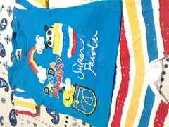 PANDA MANIA2枚セットレインボーTシャツとハーフパンツセットサイズ90�p
