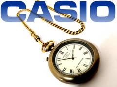 レア品 CASIO ヴィンテージ【ROOKIE】ローマ数字懐中時計