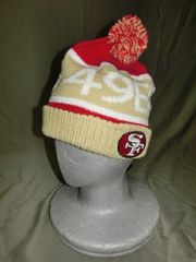 激レア【SanFrancisco49ers】SuperBowl XXIII ロゴ刺繍ニットCAP