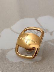 B026 新品★ フェラガモ ネクタイピン メンズ ボタン イタリア製