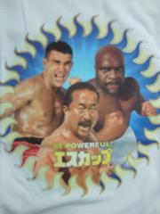 エスカップ K-1 ピーターアーツ ボブサップ 角田信朗 プリント Tシャツ ホワイト Mサイズ