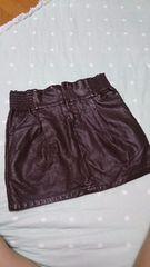 CECILMccBEE 革風ミニスカート☆茶色 Mサイズ☆