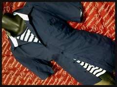 5Lカジュアルシャツ、ボーダーTシャツセット新品/MCY-6082
