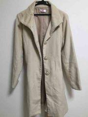 美品 オフホワイト コート L