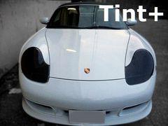 Tint+ 再利用できるボクスター986ヘッドライト スモークフィルム