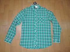 新品STUSSYステューシーチェックシャツL緑系ZAP PLAID