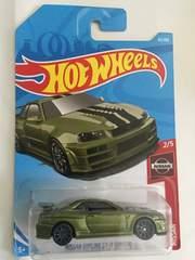 ホットウィール・日産スカイラインGT-R R34緑(他も出品中)