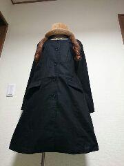 ★新品タグ4L★ノーカラー★ジャケットコート★綿(黒)