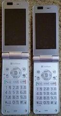 softbankソフトバンク830P 世界対応3インチ液晶2台セット