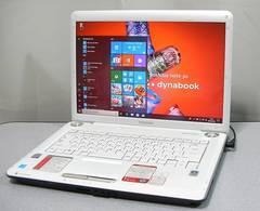 即使えるWin10*Office/DVDマルチ/Wi-Fi/人気のホワイト*東芝ダイナブック