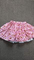 カラフル花柄スカート 80