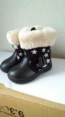 新品14�p!!ブラック星のブーツ!モコモコ