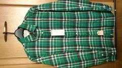 激安74%オフラルフローレン、Polo、長袖シャツ(新品タグ、緑×黒、Mサイズ)