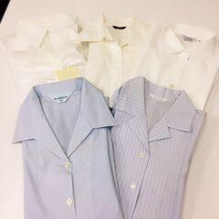 ◆ワイシャツ5枚まとめ売り◆レディース青*白★福袋!!事務服コスプレ♪