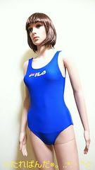 美品☆FILA☆大きいL☆真っ青なハイレグ競泳水着2090☆3点で即落