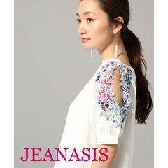 JEANASIS【美品】フラワーカットショルダー  White