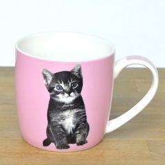 ◆【キャットマグ 4種】ネコ雑貨(ピンクネコ)贈り物