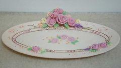 【新品未使用!!】バラとラインストーンの皿